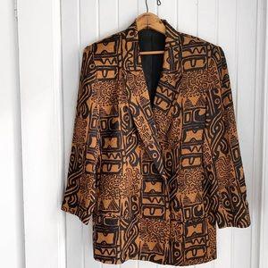 Vintage Anna May 100% Silk Oversized Blazer